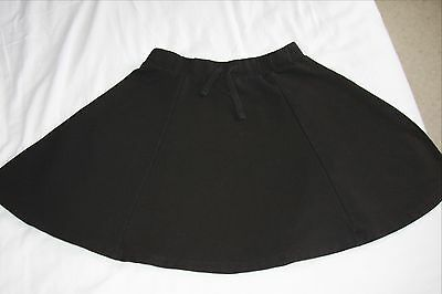 H&M black, cotton mix skater skirt - age 12-14 (15 inches long)