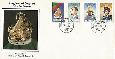 Lesotho 1985 The 25th Anniv of the Regency of King Moshoeshoe II FDC
