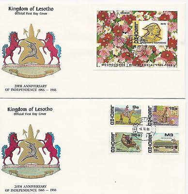 Lesotho 1986 The 20th Anniversary of lndependence FDC