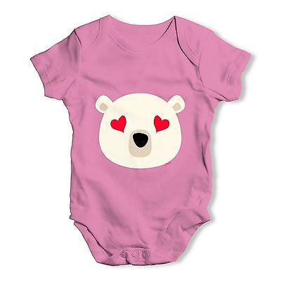 Twisted Envy Love Hearts Bear Baby Unisex Funny Baby Grow Bodysuit