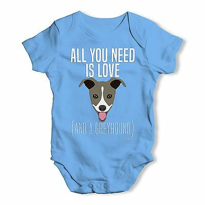 Twisted Envy All You Need Is A Greyhound Baby Unisex Funny Baby Grow Bodysuit