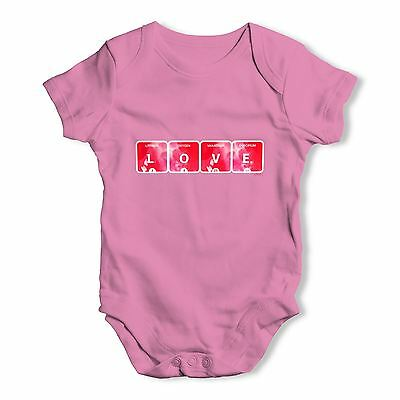Twisted Envy Love Periodic Table Baby Unisex Funny Baby Grow Bodysuit