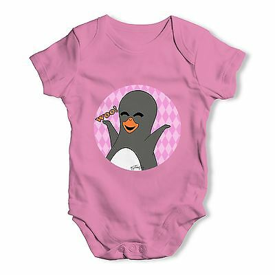 Twisted Envy Guin The Penguin Woo Emoticon Baby Unisex Funny Baby Grow Bodysuit