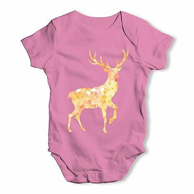 Twisted Envy Patterned Stag Baby Unisex Funny Baby Grow Bodysuit