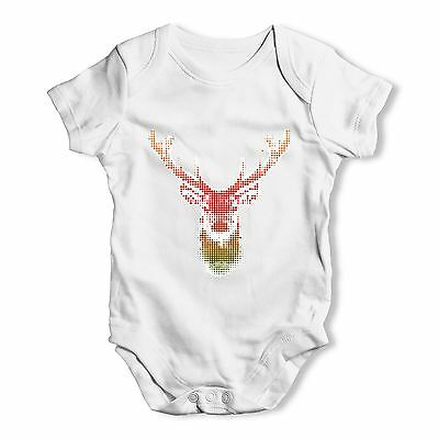 Twisted Envy Halftone Stag Baby Unisex Funny Baby Grow Bodysuit