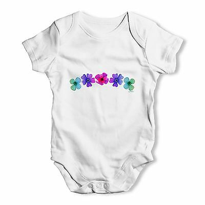 Twisted Envy Hawaiian Flowers Baby Unisex Funny Baby Grow Bodysuit