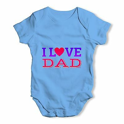 Twisted Envy I Love Dad Baby Unisex Funny Baby Grow Bodysuit