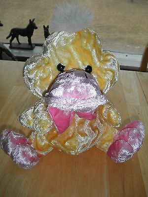 Vintage Stuffed Animal EASTER QUACK Large DanDee Baby Yellow Pink DUCK TOY CUTE