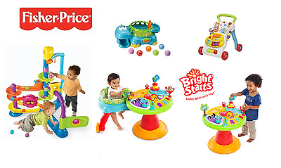 USED Fisher Price Cruise Musical Dino BRIGHT STARTS Baby Walker Activity Centre
