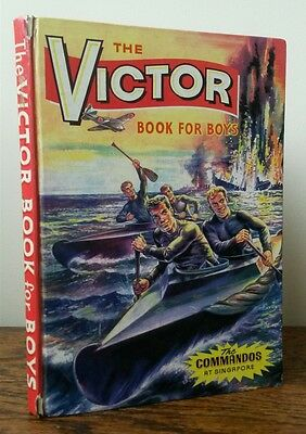 The Victor Book For Boys 1965 Annual Birthday Anniversary Gift Unclipped RARE