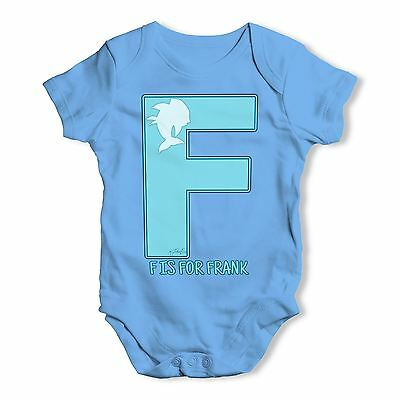 Twisted Envy Personalised Letter F Baby Unisex Funny Baby Grow Bodysuit