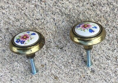 Amerock Knobs #63857-10 -Brass With Painted Porcelain Center