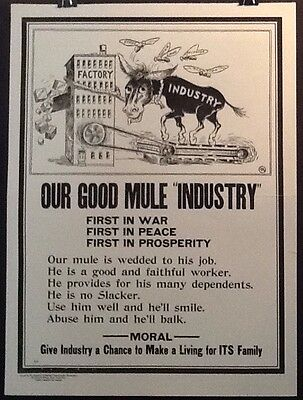 WWI National Industrial Conservation Movement Poster E-8 Home Front Propaganda