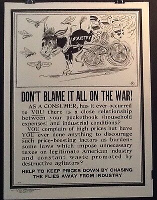 WWI National Industrial Conservation Movement Poster E-10 Home Front Propaganda