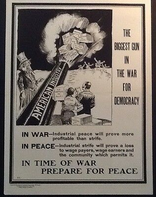WWI National Industrial Conservation Movement Poster E-12 Home Front Propaganda