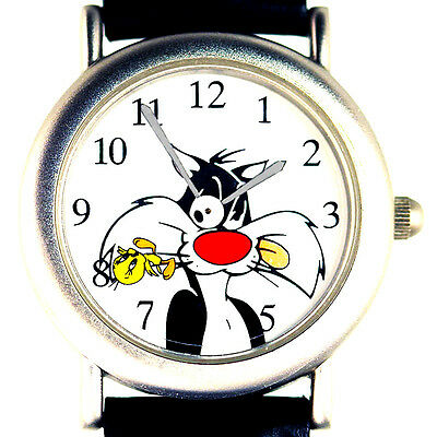 Tweety Nemesis Sylvester Fossil Warner Bros Watch Collection Easy Read Dial $119