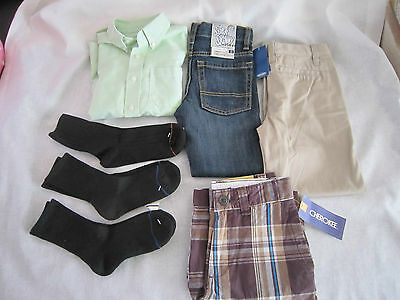 Mixed Lot of 7 PC Clothes  Boys Size 6-7  Shirt(1) & Socks(3) & Pants(3)