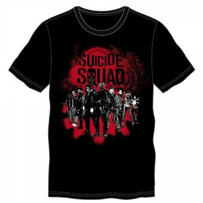Suicide Squad Group Black Tee  - XL - NEW