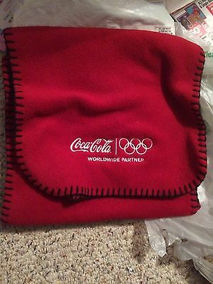 Collectible Coca-Cola Olympic Committee Red Scarf NEW Winter Coke Rare Soda Soft