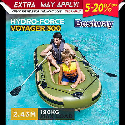 Bestway NEW Inflatable Boat Fishing Kayak Sea Lake toys Adults Kids Family Fun