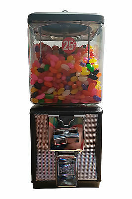 1960's NORTHWESTERN RED Vintage GUMBALL CANDY VENDING MACHINE w/key working 35