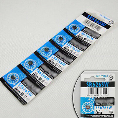 SR626SW 377 Silver Oxide Watch Battery x5pcs For Watch Calculator