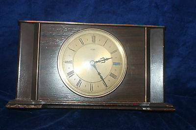 Antique Metamec Metal Mantel Clock c.1950