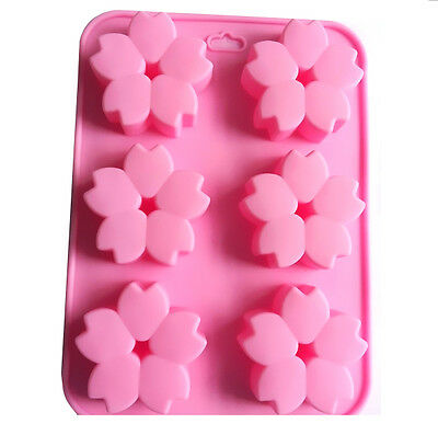 Set of 2 Cherry blossoms blo Silicone Oven Handmade Soap Mold Molds Food Grade