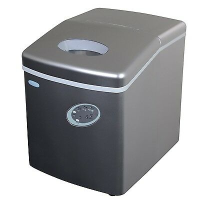 NewAir AI-100S 28-Pound Portable Ice Maker, Silver (Flawless design boasts) HVI