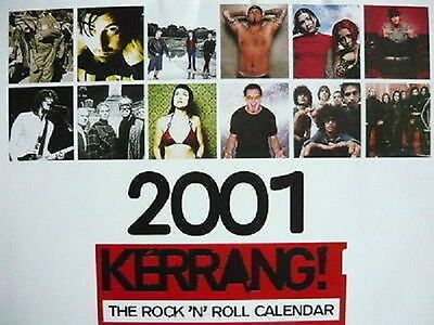Kerrang! 2001 Calendar - Cradle Of Filth - Slipknot - Marilyn Manson - Deftones