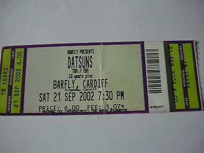 The Datsuns - Unused 2002 Concert Ticket