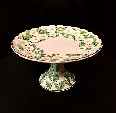 MOTTAHEDEH Italy S6529 DAISY Pattern CAKE STAND Plate Server Pedestal ESTATE