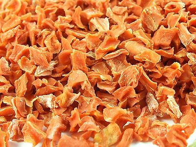 DRIED CUT CARROTS natural versitile flakes for cooking or snack for pets 1KG