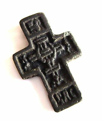 Ancient RARE small Roman Late Medieval Bronze Pendant Cross. Tudor period.