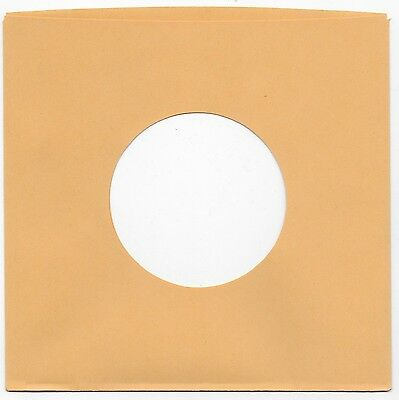 7 Inch Vinyl Gold Paper Record Sleeves 50 Pk