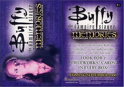 Buffy Memories Trading Card B-1 Excellent Condition