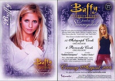 Buffy Women Of Sunnydale Promo Card Wos P-1 Excellent Condition
