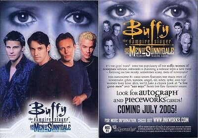Buffy Men Of Sunnydale Promo Card Mos P-1 Excellent Condition