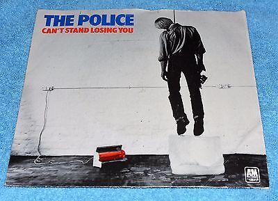"""The Police ( Sting )-  Can't Stand Losing You Blue  Vinyl 7"""" Vg/ex"""