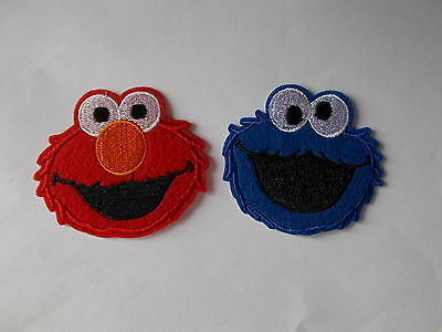 Muppet - Elmo or Cookie Monster Embroidered Iron / Sew on Patch Applique Badge