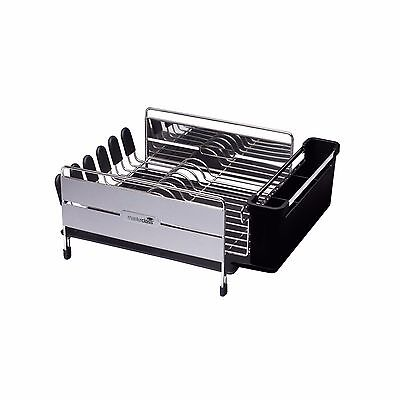 MasterClass Deluxe kitchenCraft Stainless Steel Dish Drainer