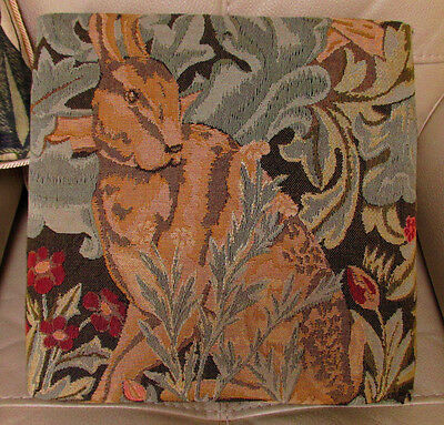 William Morris 'The Hare' tapestry footstool Excellent