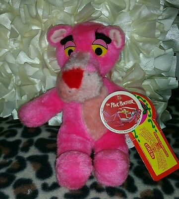 "Vintage Pink Panther 1980 United Artists by Mighty Star 11"" Plush with Tags"