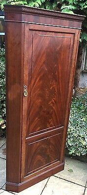 Fine Rare Arts & Crafts Mahogany Corner Wardrobe - 2 Man Delivery Available