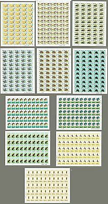 Caribbean Collection Of 11 MNH Full Sheet Animles, Butterflies & Insects Topic