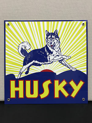 Husky gasoline oil  racing vintage advertising sign