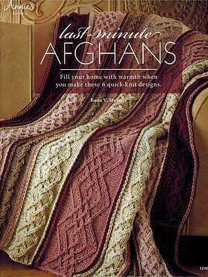 Last-Minute Afghans 6 Quick Easy Knit Blanket PATTERNS Warm Cozy Gifts Throw NEW
