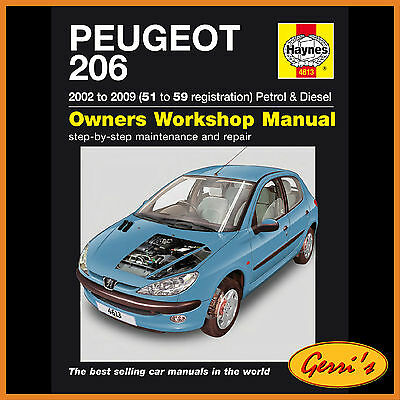4613 Haynes Peugeot 206 Petrol & Diesel (2002 - 2009) 51 to 59 Workshop Manual