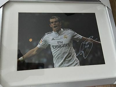 Hand Signed & Framed  Gareth Bale Real Madrid 12 X 8 Top Quality Picture Coa