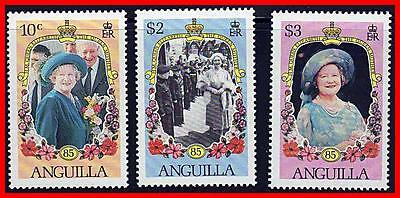 Anguilla 1985 Queen Mum Anniversary Mnh Royalty, Costumes (K-J18)